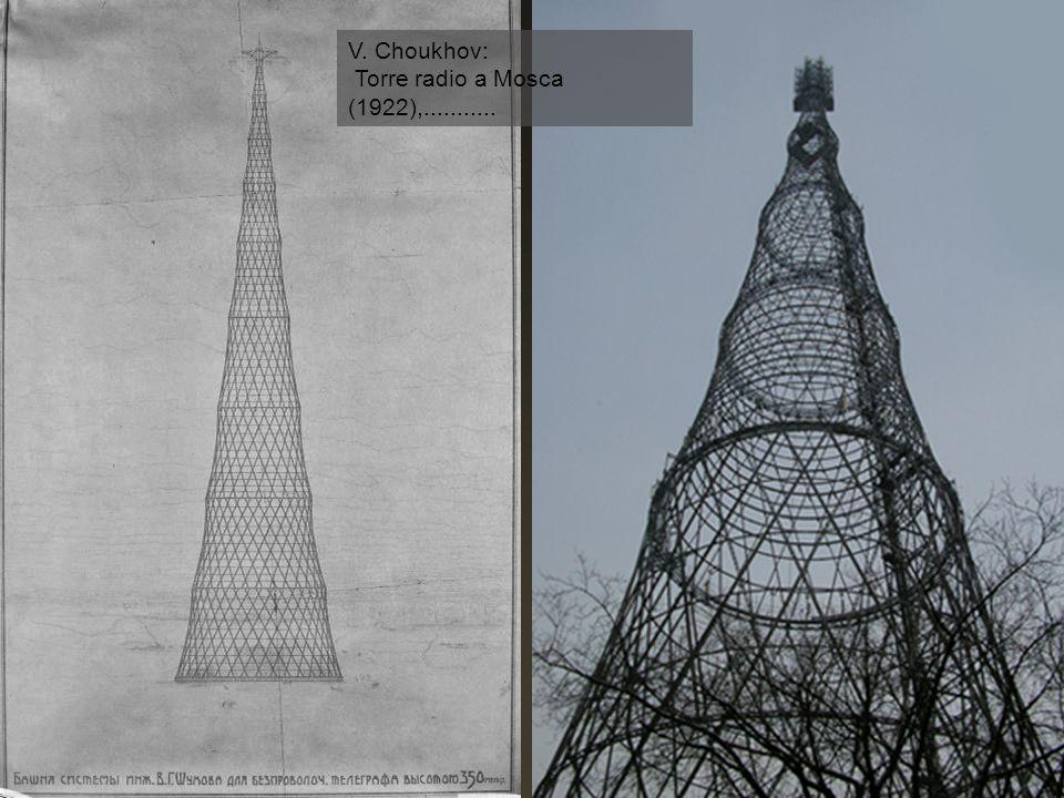 V. Choukhov: Torre radio a Mosca (1922),...........