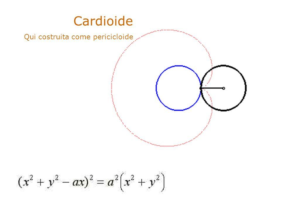 Cardioide Qui costruita come pericicloide. .