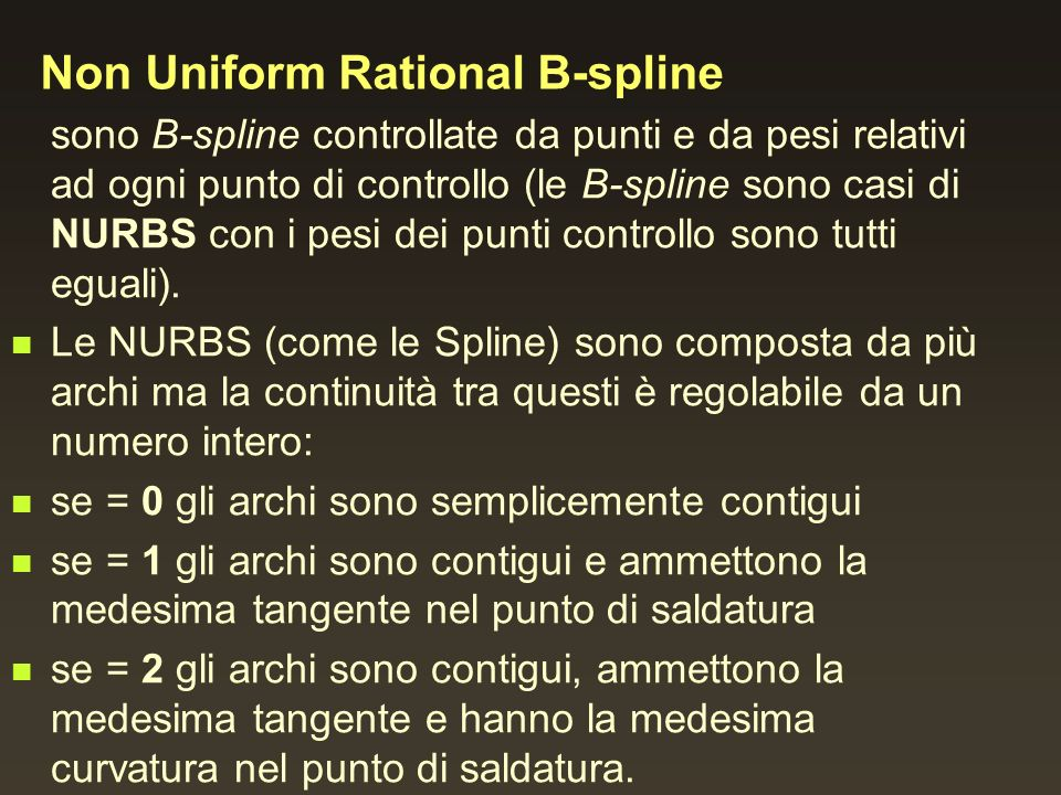 Non Uniform Rational B-spline