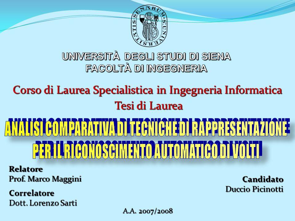 Corso di Laurea Specialistica in Ingegneria Informatica Tesi di Laurea