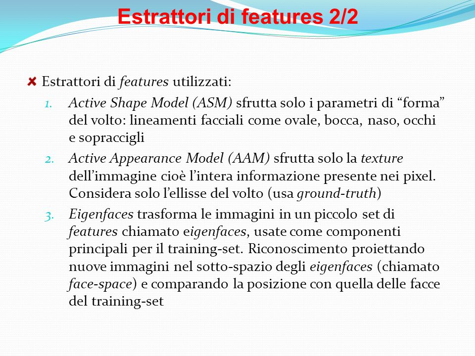 Estrattori di features 2/2