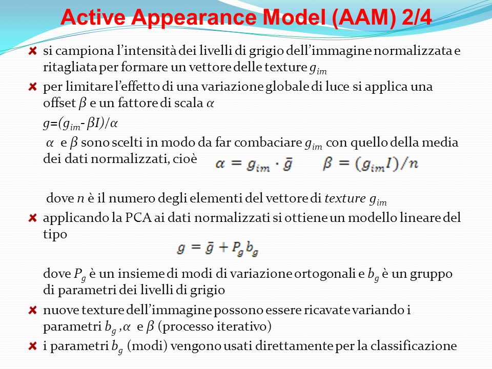 Active Appearance Model (AAM) 2/4