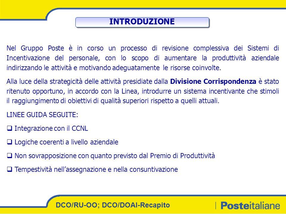 INTRODUZIONE DCO/RU-OO; DCO/DOAI-Recapito