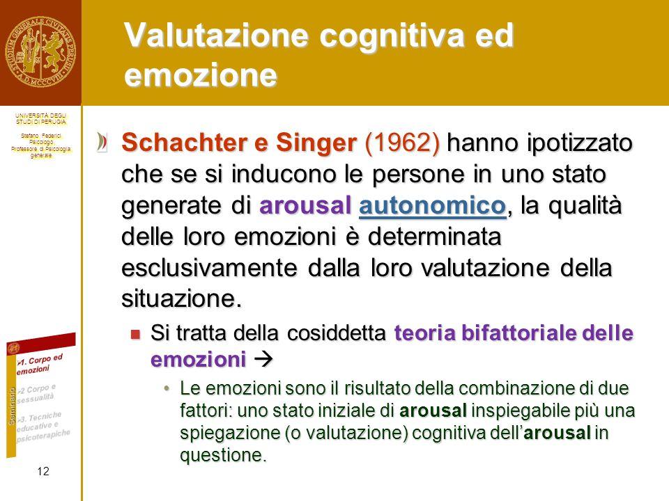 Valutazione cognitiva ed emozione
