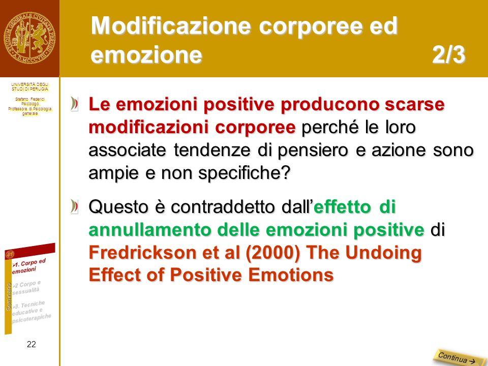Modificazione corporee ed emozione 2/3