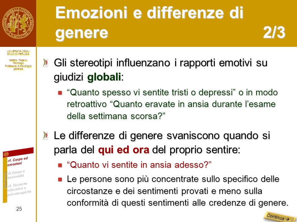 Emozioni e differenze di genere 2/3