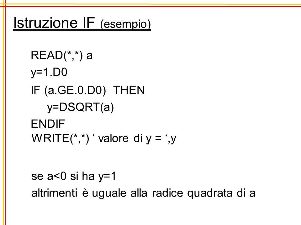 Istruzione IF (esempio)