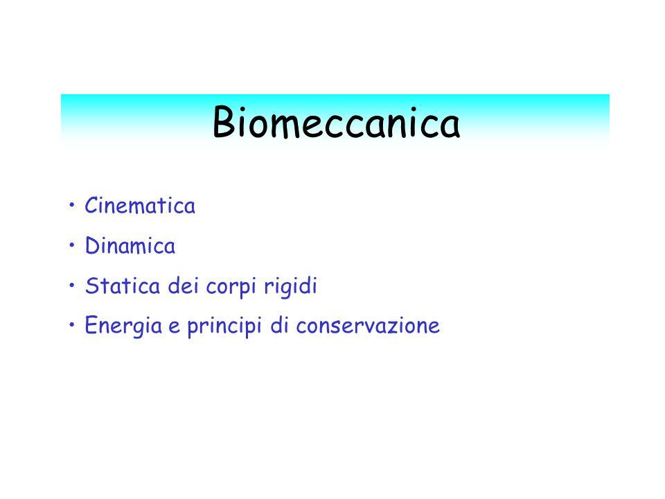 Biomeccanica Cinematica Dinamica Statica dei corpi rigidi