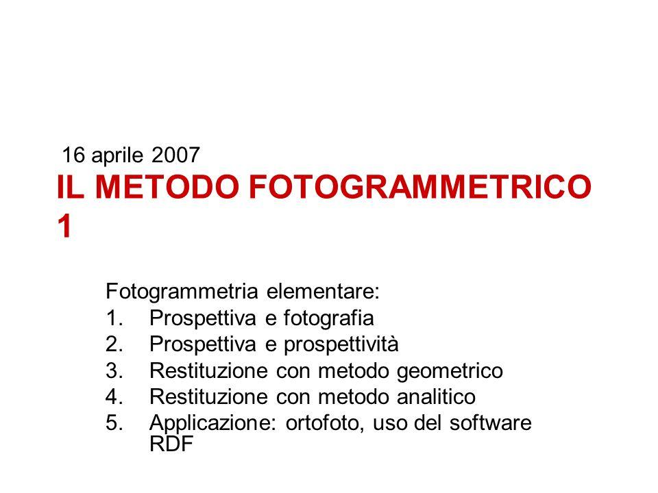 IL METODO FOTOGRAMMETRICO 1