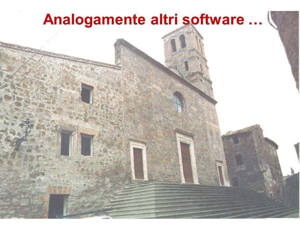 Analogamente altri software …