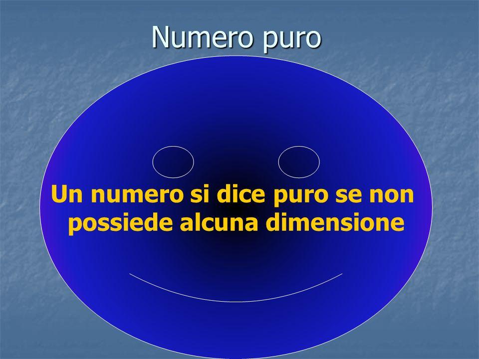 Un numero si dice puro se non possiede alcuna dimensione