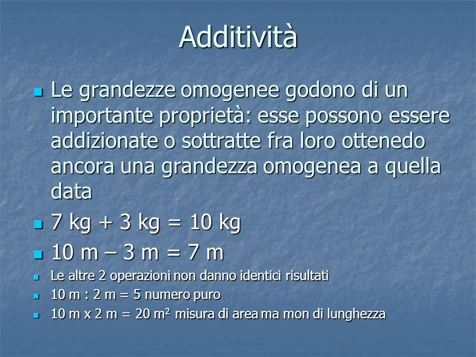 Additività