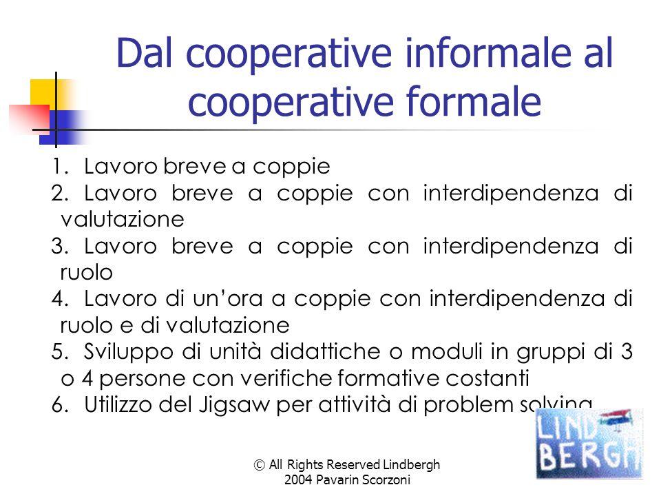 Dal cooperative informale al cooperative formale