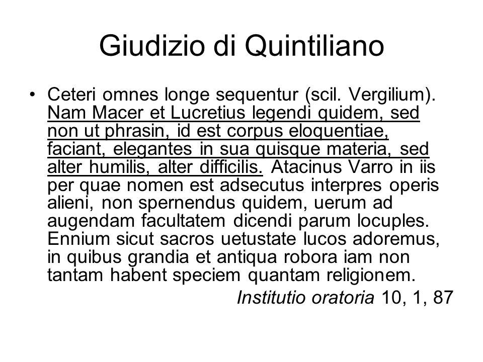 Giudizio di Quintiliano