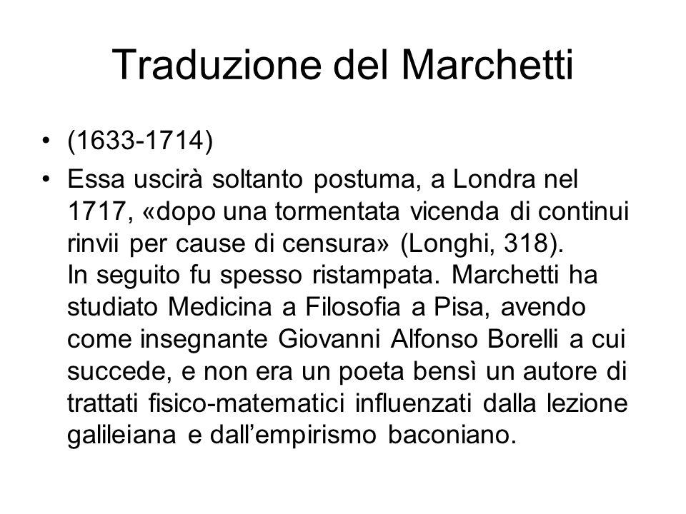 Traduzione del Marchetti