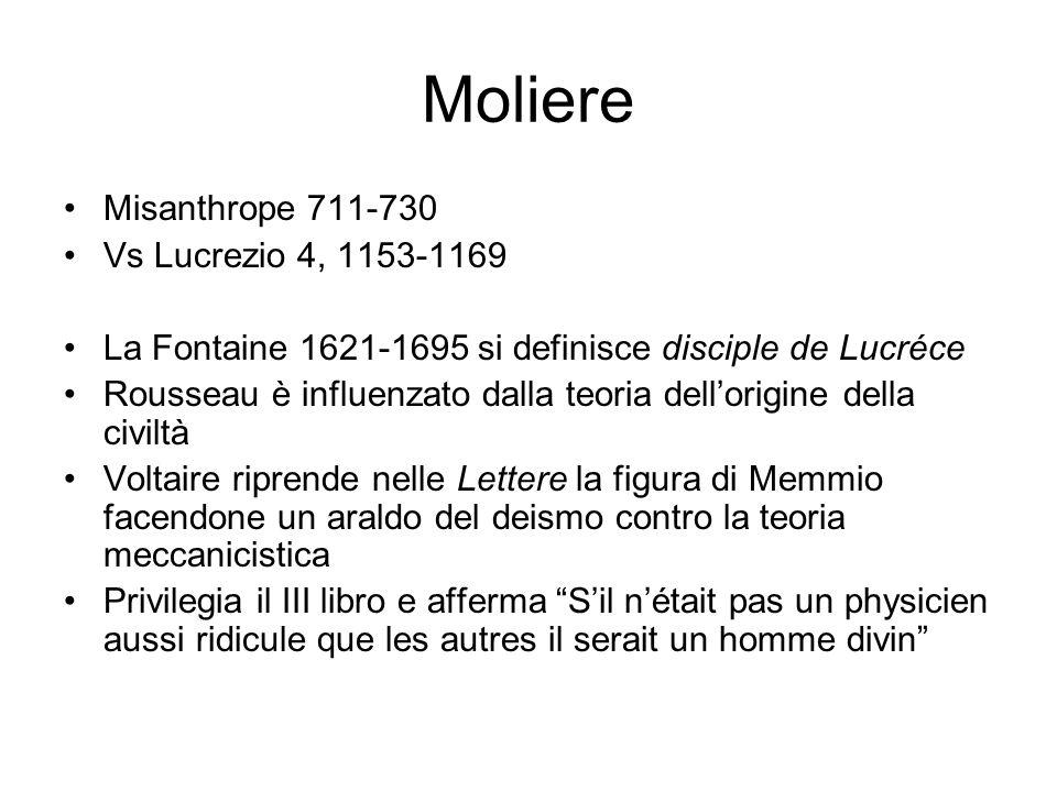 Moliere Misanthrope 711-730 Vs Lucrezio 4, 1153-1169