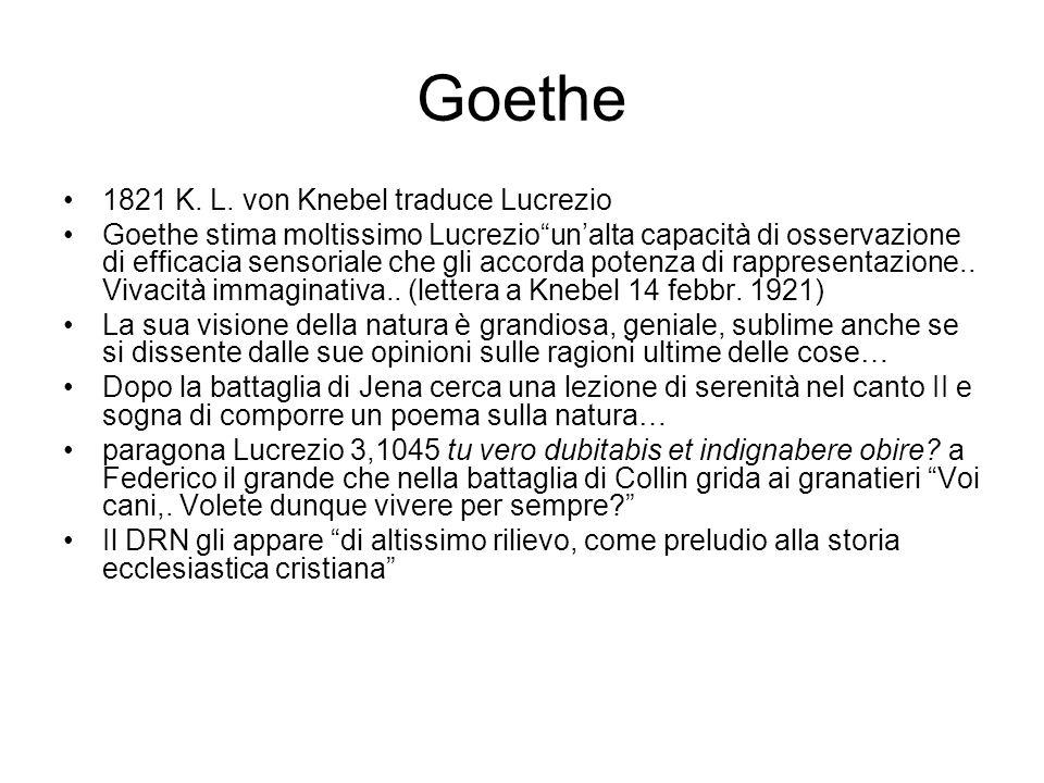 Goethe 1821 K. L. von Knebel traduce Lucrezio