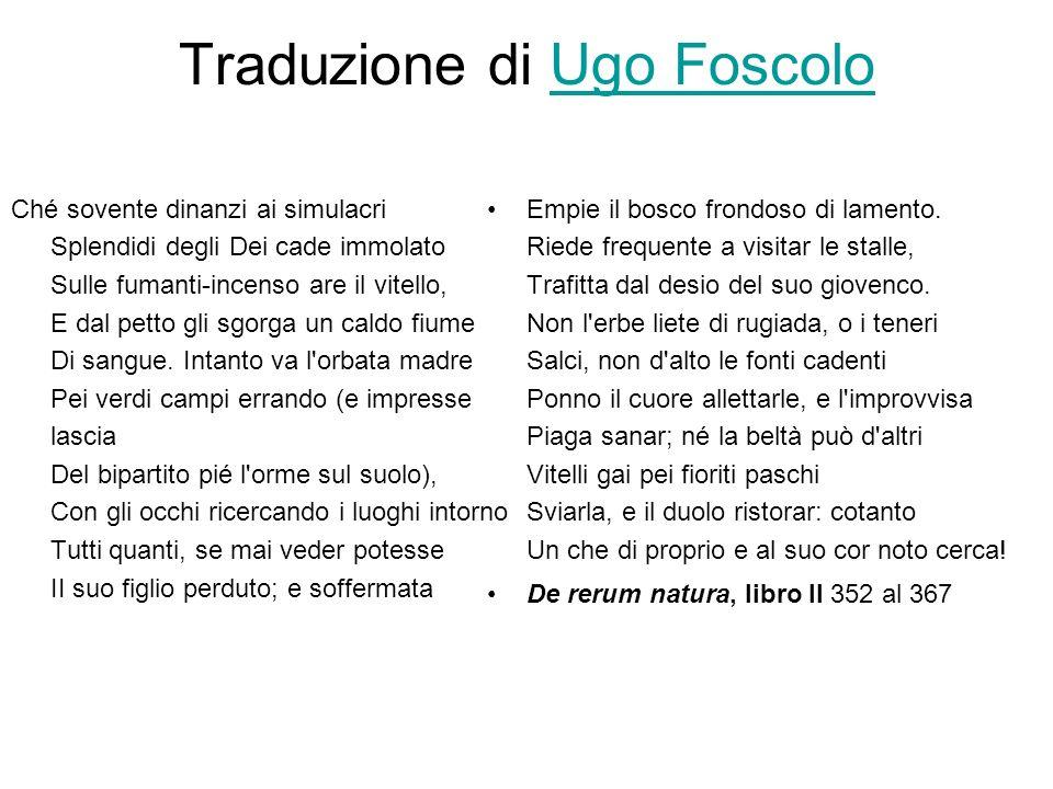 Traduzione di Ugo Foscolo