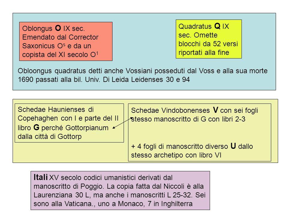 Quadratus Q IX sec. Omette blocchi da 52 versi riportati alla fine