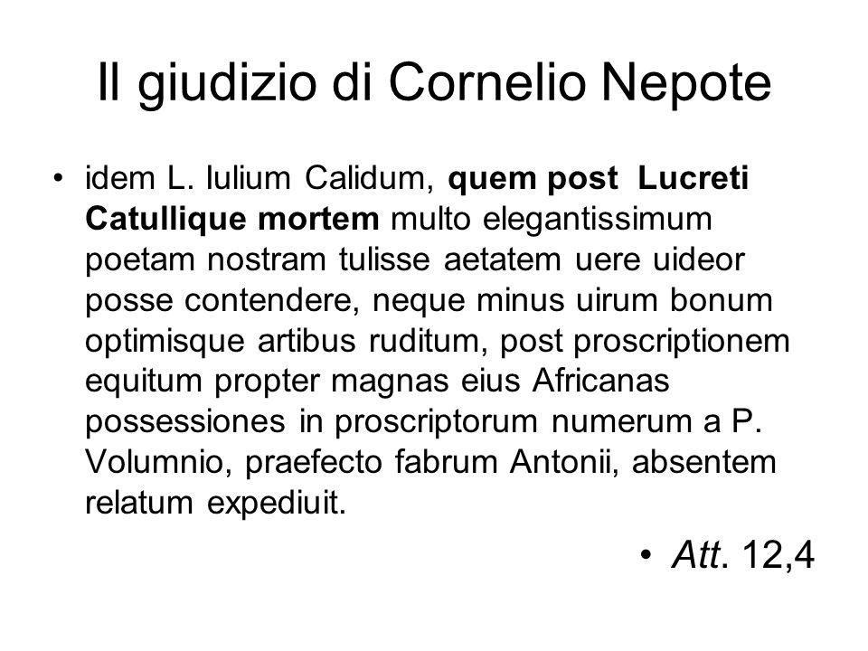 Il giudizio di Cornelio Nepote