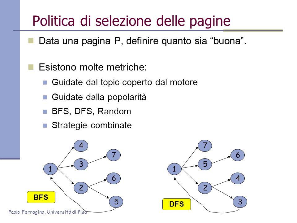 Politica di selezione delle pagine