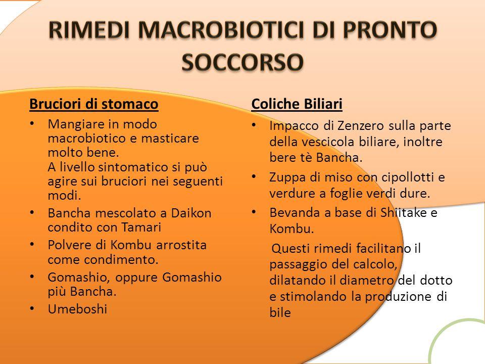 RIMEDI MACROBIOTICI DI PRONTO SOCCORSO