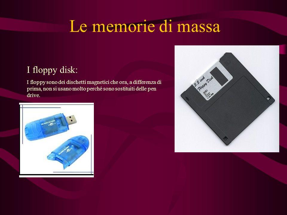Le memorie di massa I floppy disk: