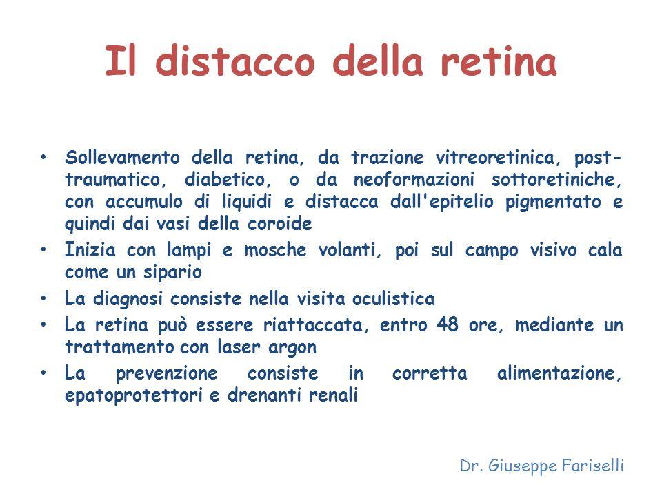 Il distacco della retina