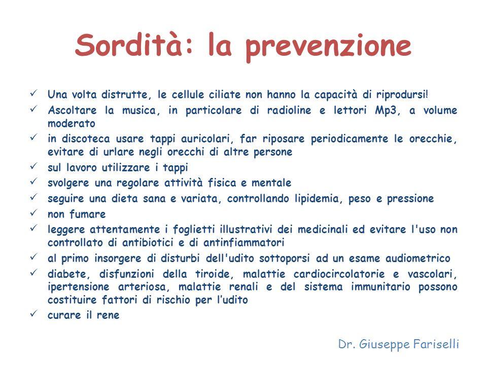 Sordità: la prevenzione