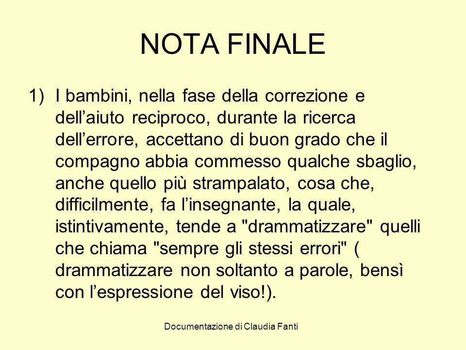 NOTA FINALE