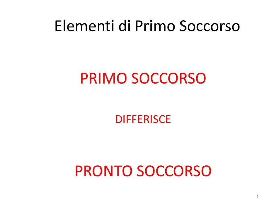 Elementi di Primo Soccorso
