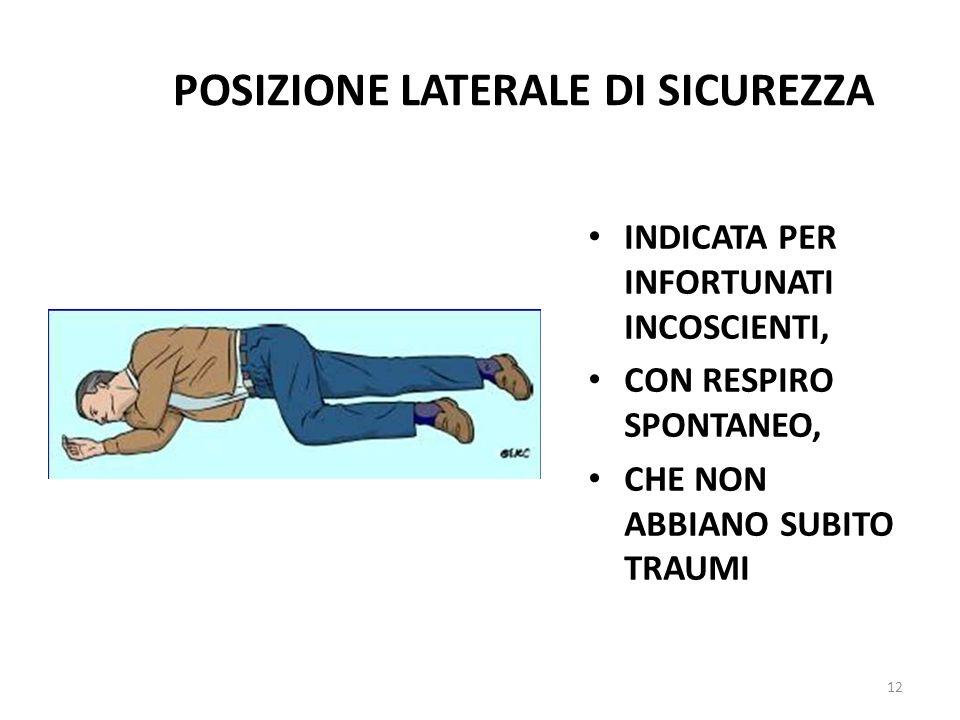 POSIZIONE LATERALE DI SICUREZZA
