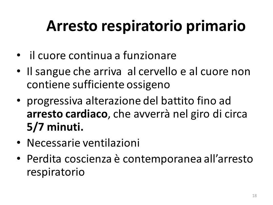Arresto respiratorio primario