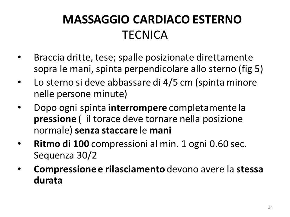 MASSAGGIO CARDIACO ESTERNO TECNICA