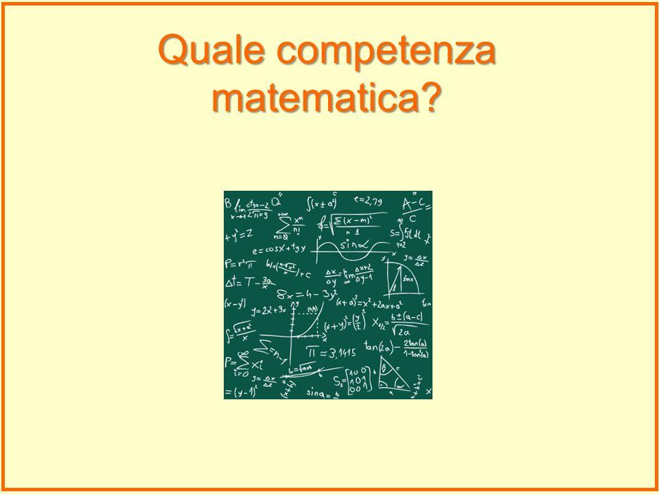 Quale competenza matematica