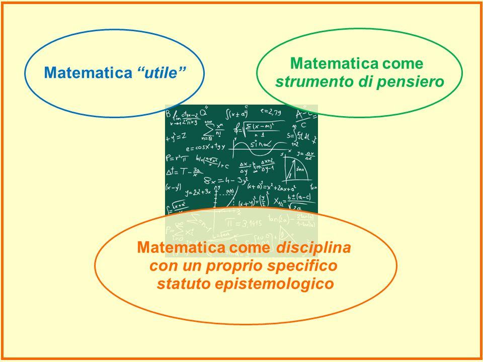 Matematica come disciplina con un proprio specifico