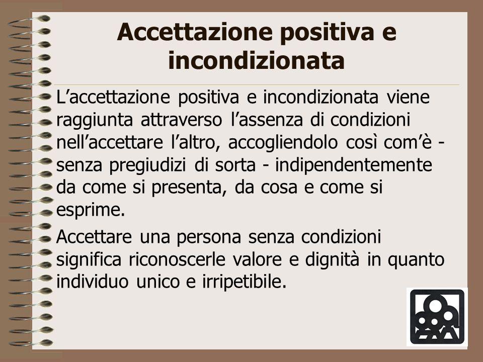 Accettazione positiva e incondizionata