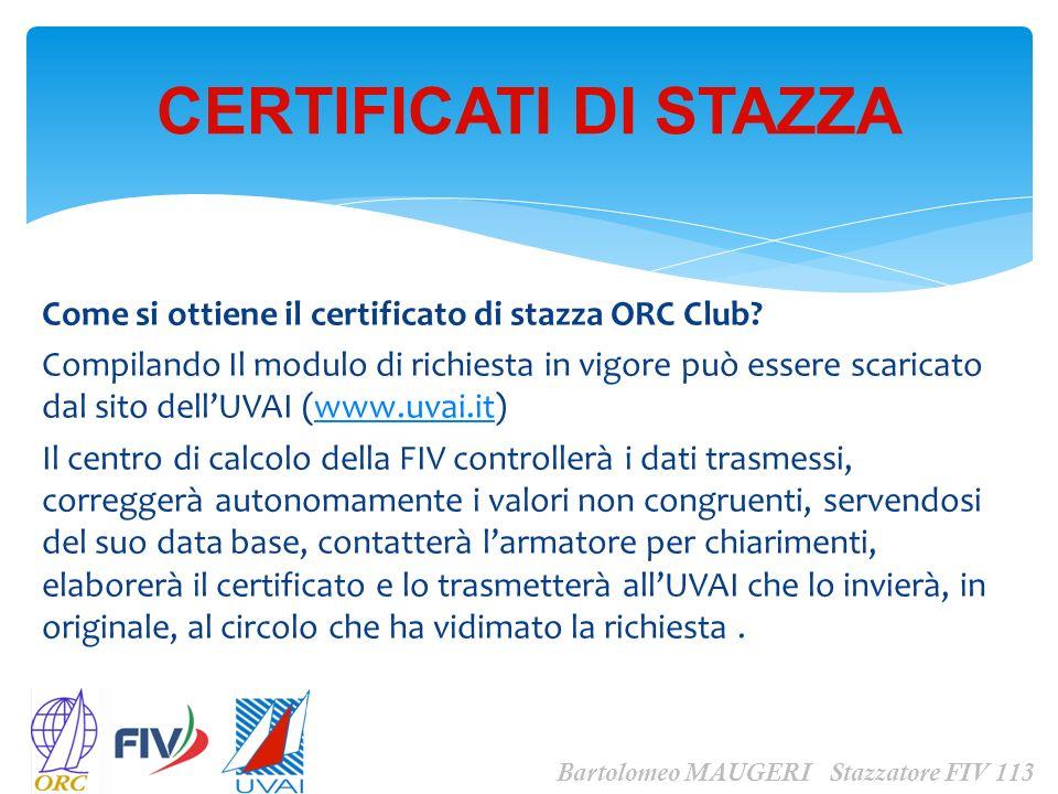 CERTIFICATI DI STAZZA Come si ottiene il certificato di stazza ORC Club