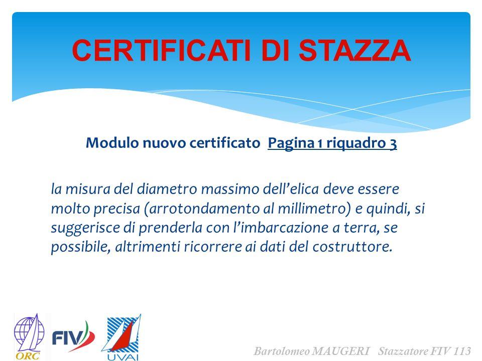 Modulo nuovo certificato Pagina 1 riquadro 3