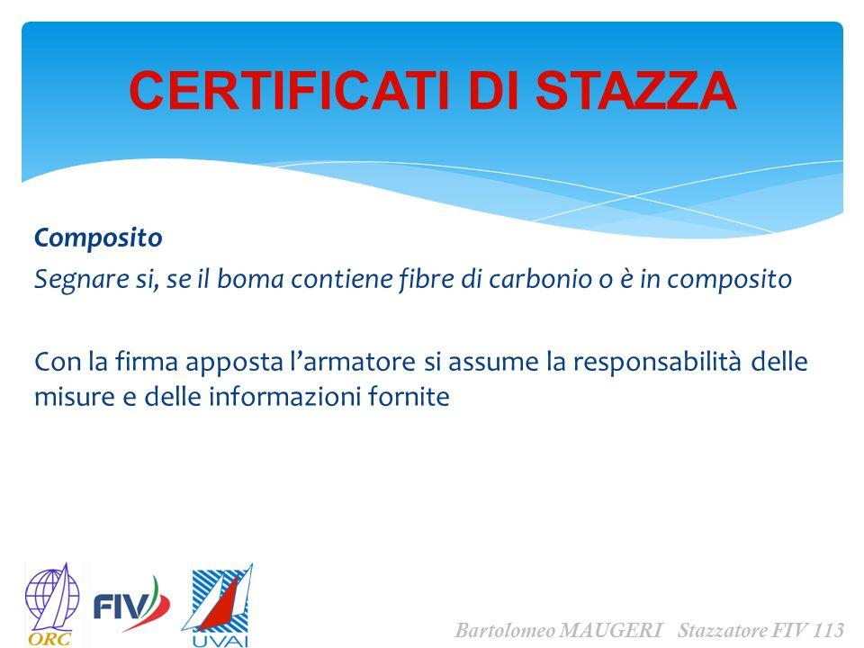 CERTIFICATI DI STAZZA Composito