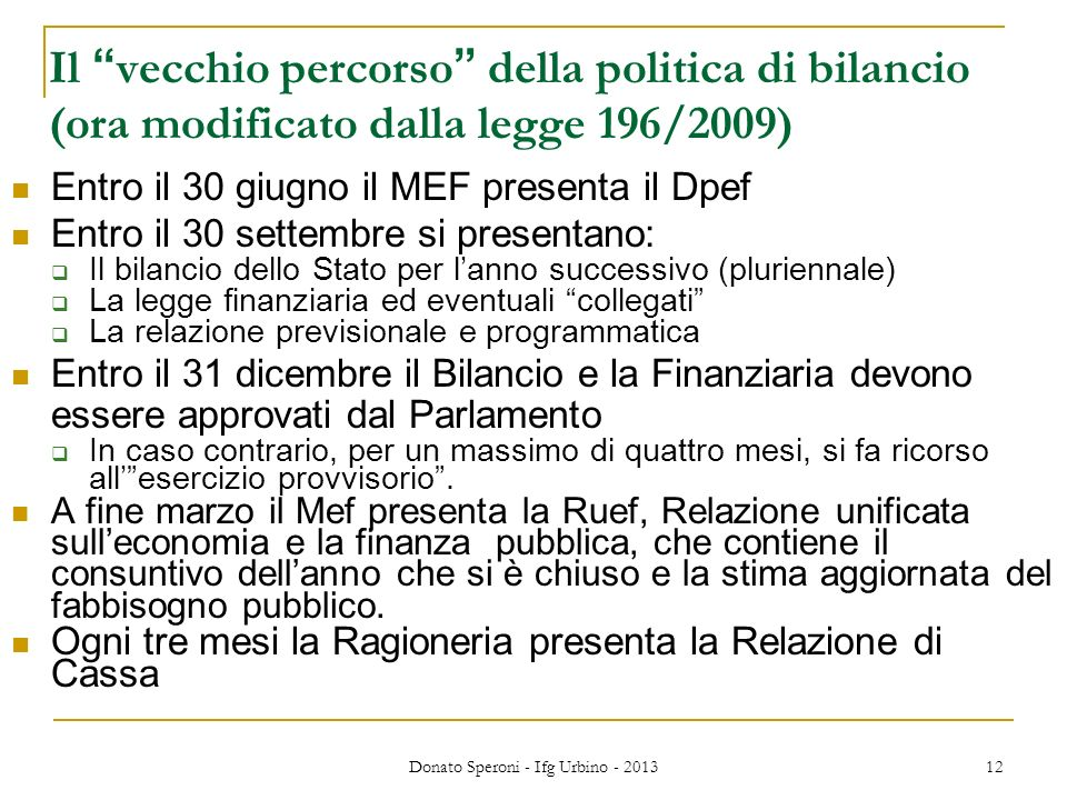 Donato Speroni - Ifg Urbino - 2013