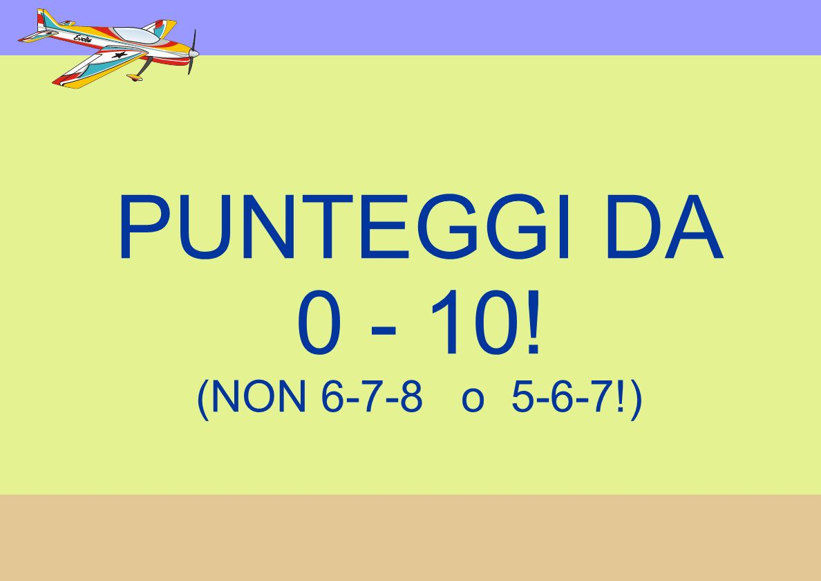 PUNTEGGI DA 0 - 10! (NON 6-7-8 o 5-6-7!) USE FULL RANGE!