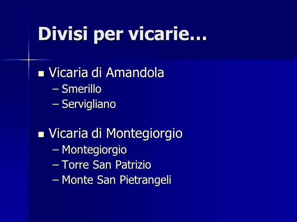 Divisi per vicarie… Vicaria di Amandola Vicaria di Montegiorgio