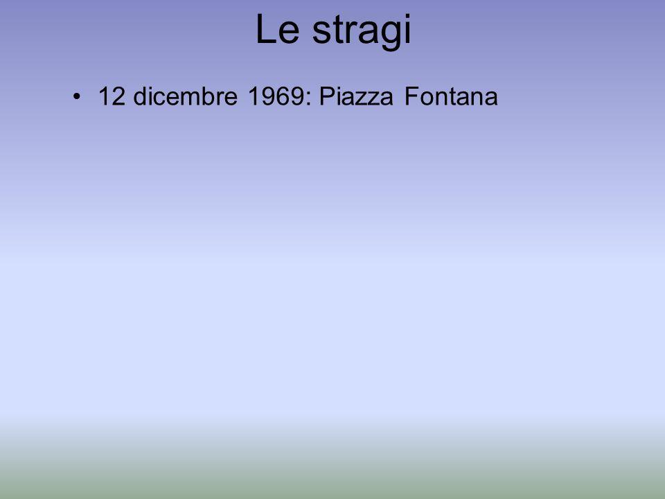 Le stragi 12 dicembre 1969: Piazza Fontana