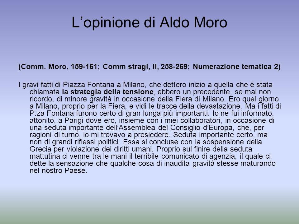 L'opinione di Aldo Moro