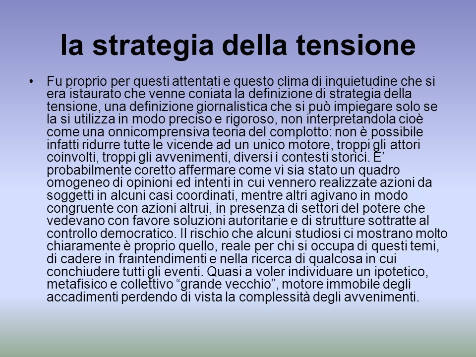la strategia della tensione