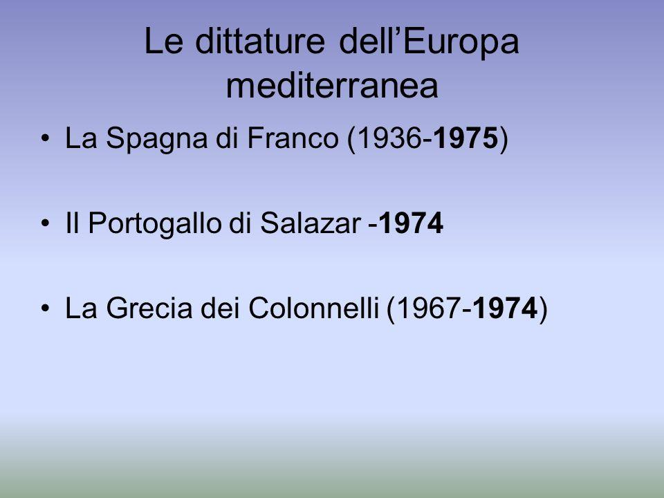 Le dittature dell'Europa mediterranea