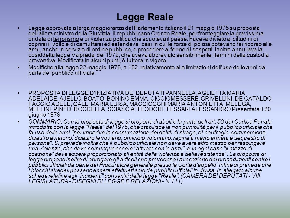 Legge Reale
