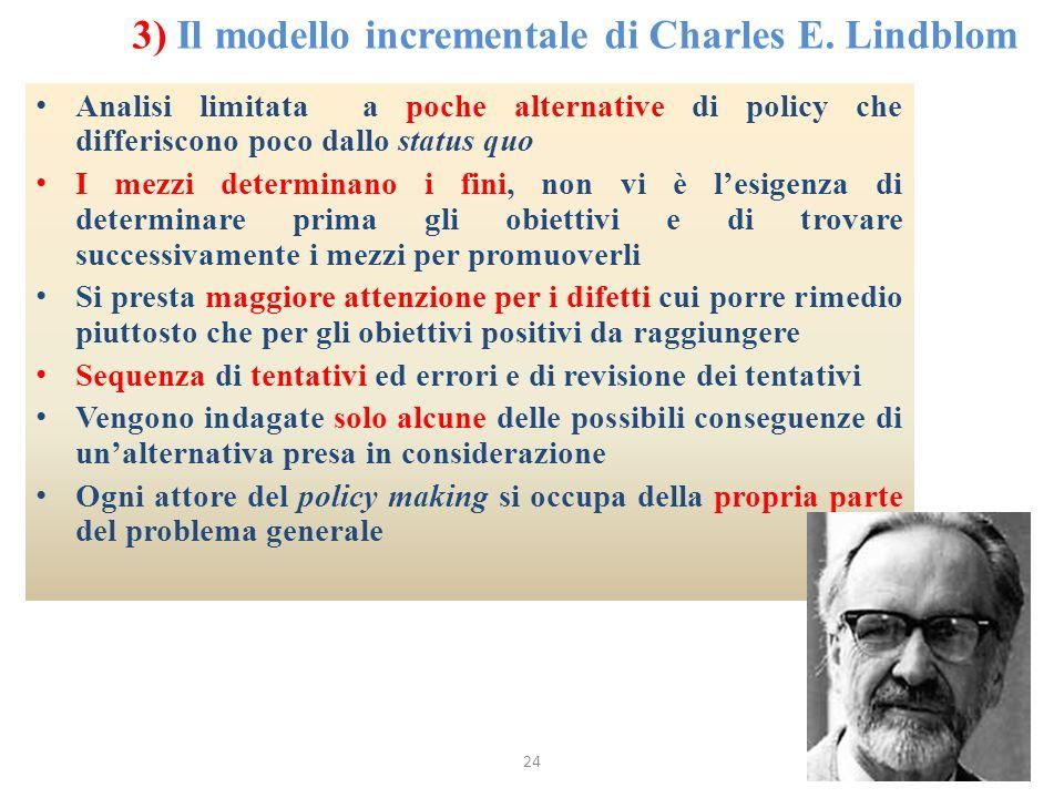 3) Il modello incrementale di Charles E. Lindblom