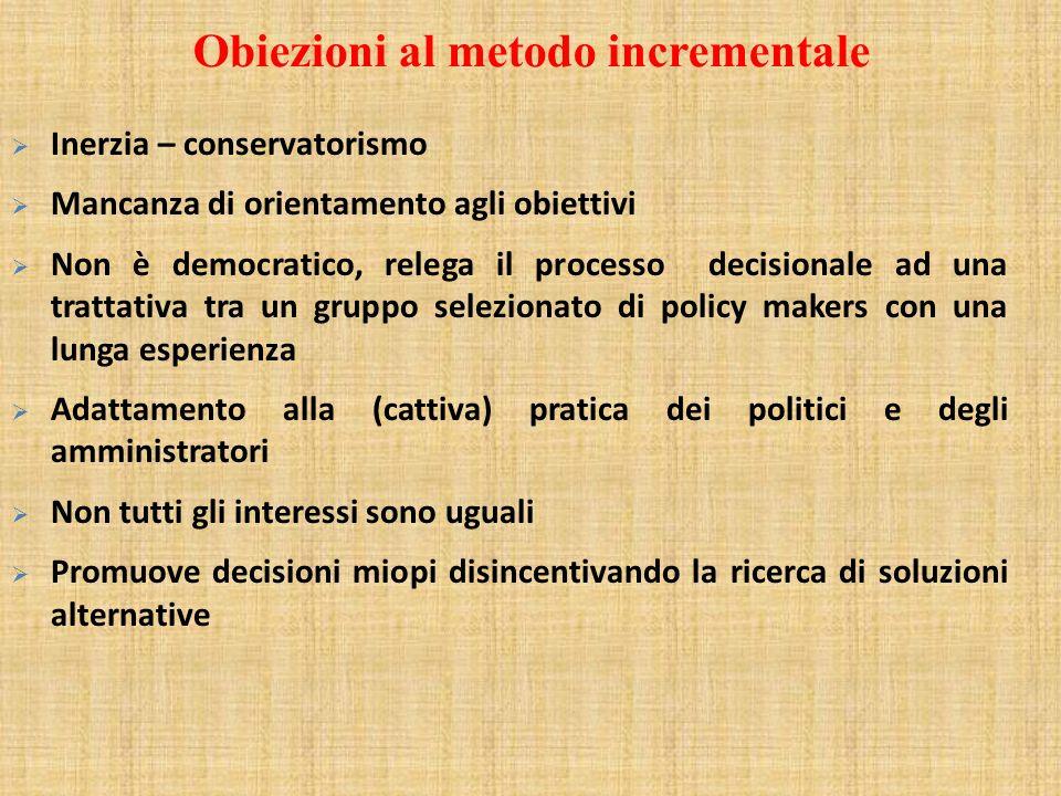 Obiezioni al metodo incrementale